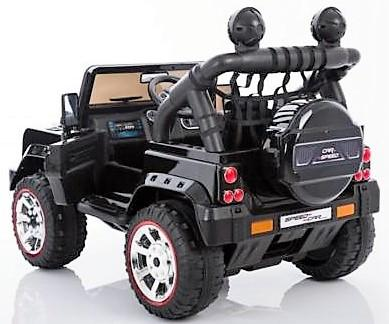 Kids Rocket Courage 2 Seater 12v Electric / Battery Ride on Jeep 4x4 Black-12627