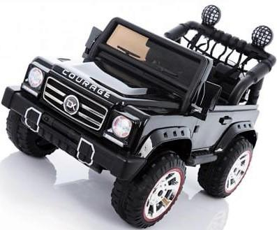 Kids Rocket Courage 2 Seater 12v Electric / Battery Ride on Jeep 4x4 Black-12628