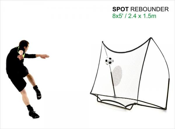 Quickplay Kickster Football Goal 8' x 5' and Rebounder System-12835