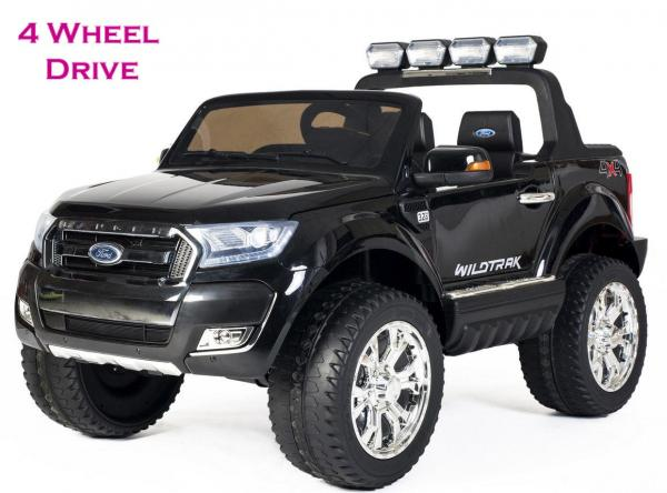 Ford Licensed 2 Seater Ranger Wildtrak Pickup 4WD Electric Ride on Car Jeep - Black -0