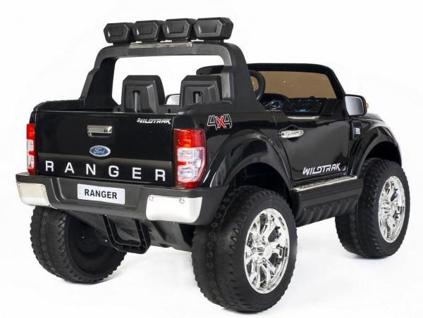 Ford Licensed 2 Seater Ranger Wildtrak Pickup 4WD Electric Ride on Car Jeep - Black -13038
