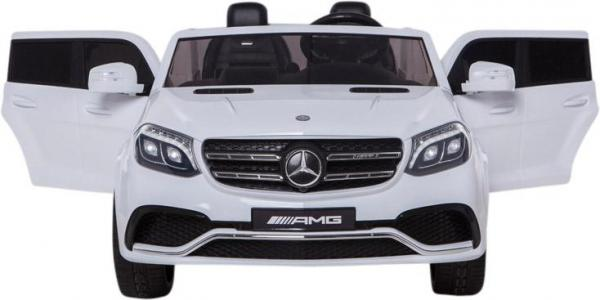 Mercedes 2 seater Licensed GLS 63 AMG SUV 4WD Jeep Electric Battery Ride on Car White-12931