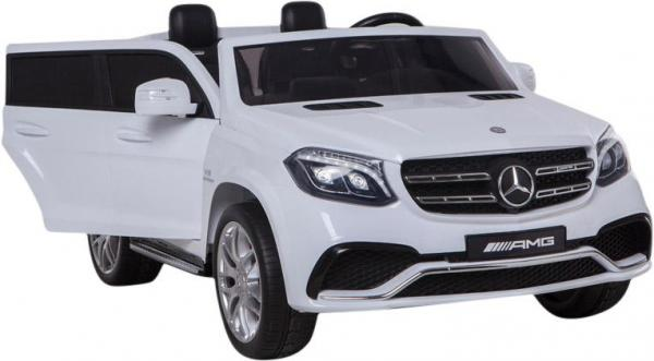 Mercedes 2 seater Licensed GLS 63 AMG SUV 4WD Jeep Electric Battery Ride on Car White-12929