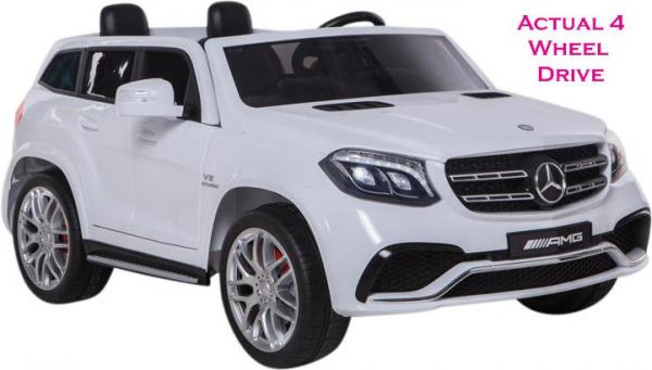 Mercedes 2 seater Licensed GLS 63 AMG SUV 4WD Jeep Electric Battery Ride on Car White-0