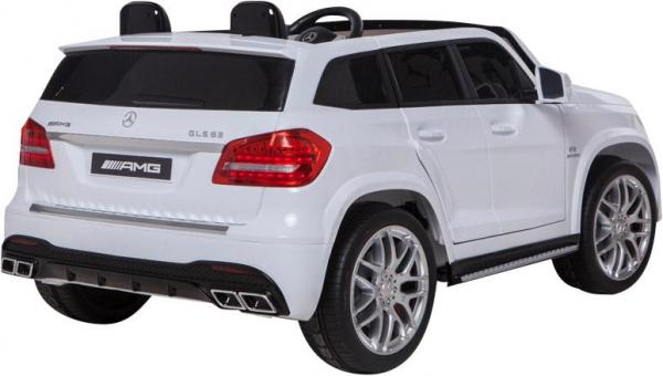 Mercedes 2 seater Licensed GLS 63 AMG SUV 4WD Jeep Electric Battery Ride on Car White-12936