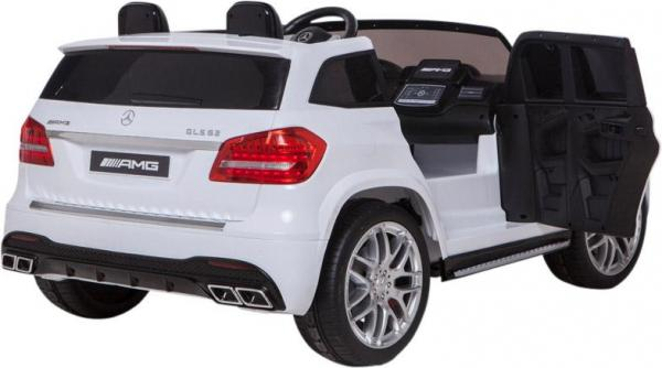 Mercedes 2 seater Licensed GLS 63 AMG SUV 4WD Jeep Electric Battery Ride on Car White-12923