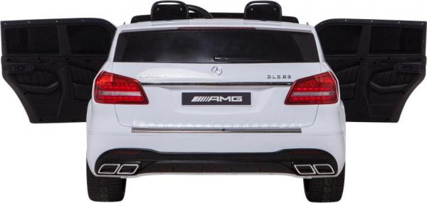 Mercedes 2 seater Licensed GLS 63 AMG SUV 4WD Jeep Electric Battery Ride on Car White-12935