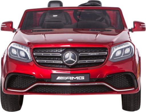 Mercedes 2 seater Licensed GLS 63 AMG SUV 4WD Jeep Electric Battery Ride on Car Metalic Red -12965