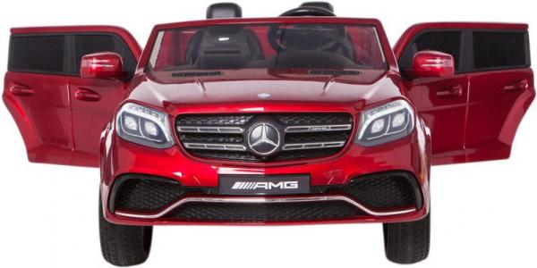 Mercedes 2 seater Licensed GLS 63 AMG SUV 4WD Jeep Electric Battery Ride on Car Metalic Red -12953