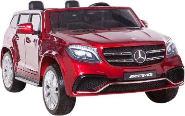 Mercedes 2 seater Licensed GLS 63 AMG SUV 4WD Jeep Electric Battery Ride on Car Metalic Red -12964