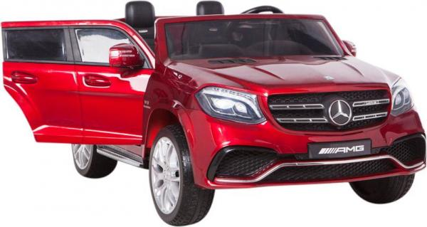 Mercedes 2 seater Licensed GLS 63 AMG SUV 4WD Jeep Electric Battery Ride on Car Metalic Red -12959