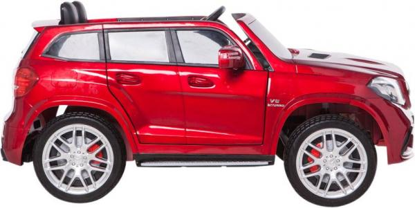 Mercedes 2 seater Licensed GLS 63 AMG SUV 4WD Jeep Electric Battery Ride on Car Metalic Red -12957