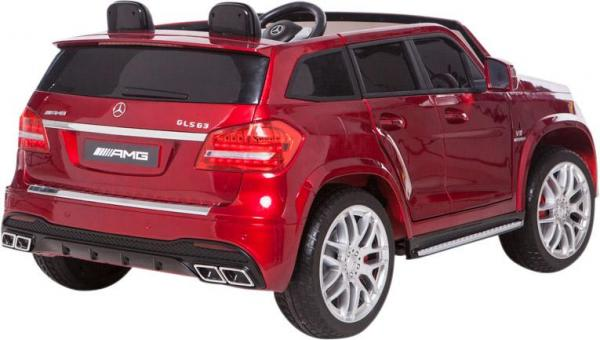 Mercedes 2 seater Licensed GLS 63 AMG SUV 4WD Jeep Electric Battery Ride on Car Metalic Red -12963