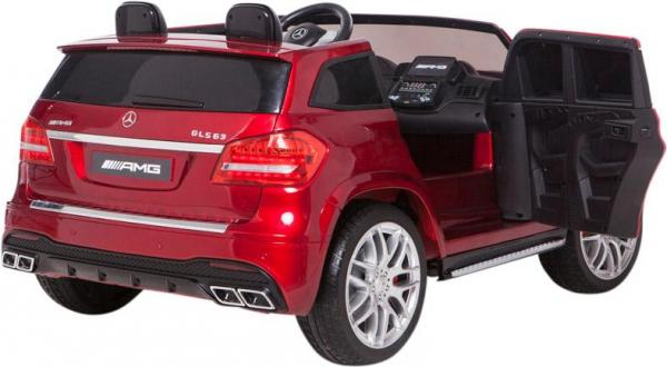 Mercedes 2 seater Licensed GLS 63 AMG SUV 4WD Jeep Electric Battery Ride on Car Metalic Red -12956