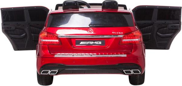 Mercedes 2 seater Licensed GLS 63 AMG SUV 4WD Jeep Electric Battery Ride on Car Metalic Red -12960
