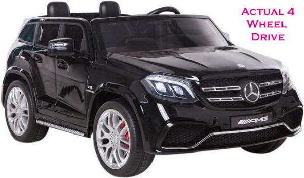 Mercedes 2 seater Licensed GLS 63 AMG SUV 4WD Jeep Electric Battery Ride on Car Black-0