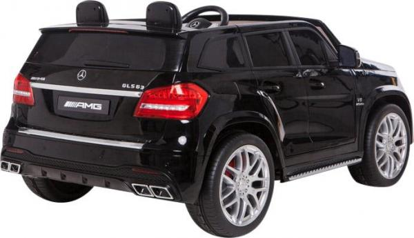 Mercedes 2 seater Licensed GLS 63 AMG SUV 4WD Jeep Electric Battery Ride on Car Black-12983