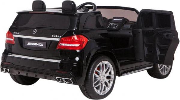 Mercedes 2 seater Licensed GLS 63 AMG SUV 4WD Jeep Electric Battery Ride on Car Black-12995