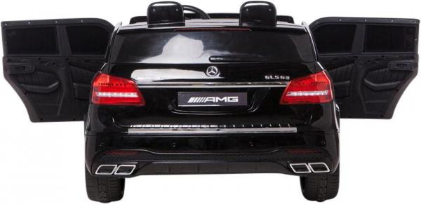 Mercedes 2 seater Licensed GLS 63 AMG SUV 4WD Jeep Electric Battery Ride on Car Black-12993