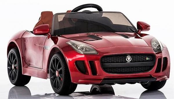 Kids Licensed Jaguar F-Type R Jag Sports Car with Remote Control 12v Electric / Battery Ride on Car - Red-0
