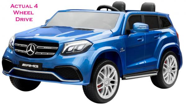 Mercedes 2 seater Licensed GLS 63 AMG SUV 4WD Jeep Electric Battery Ride on Car Blue-0