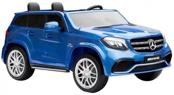 Mercedes 2 seater Licensed GLS 63 AMG SUV 4WD Jeep Electric Battery Ride on Car Blue-13090