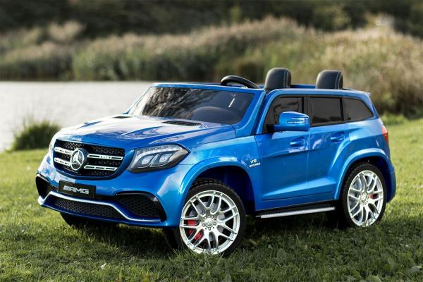 Mercedes 2 seater Licensed GLS 63 AMG SUV 4WD Jeep Electric Battery Ride on Car Blue-13091