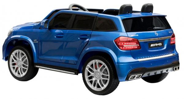 Mercedes 2 seater Licensed GLS 63 AMG SUV 4WD Jeep Electric Battery Ride on Car Blue-13089