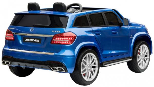 Mercedes 2 seater Licensed GLS 63 AMG SUV 4WD Jeep Electric Battery Ride on Car Blue-13085