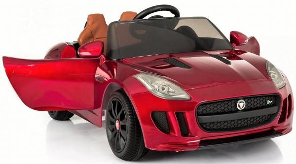 Kids Licensed Jaguar F-Type R Jag Sports Car with Remote Control 12v Electric / Battery Ride on Car - Red-13149
