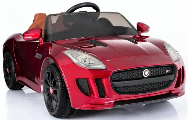 Kids Licensed Jaguar F-Type R Jag Sports Car with Remote Control 12v Electric / Battery Ride on Car - Red-13144