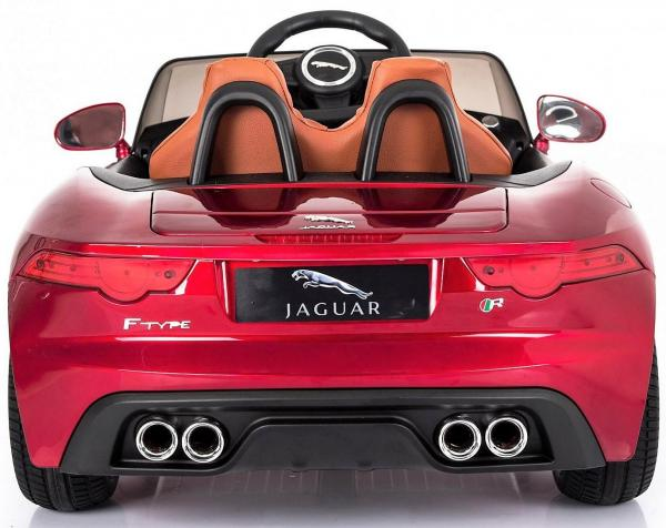 Kids Licensed Jaguar F-Type R Jag Sports Car with Remote Control 12v Electric / Battery Ride on Car - Red-13145