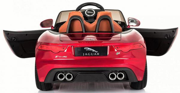 Kids Licensed Jaguar F-Type R Jag Sports Car with Remote Control 12v Electric / Battery Ride on Car - Red-13148