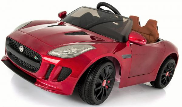 Kids Licensed Jaguar F-Type R Jag Sports Car with Remote Control 12v Electric / Battery Ride on Car - Red-13146