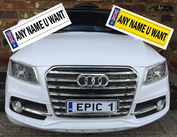 Private Personalised Registration Number Plates for Ride on cars or Jeeps-0