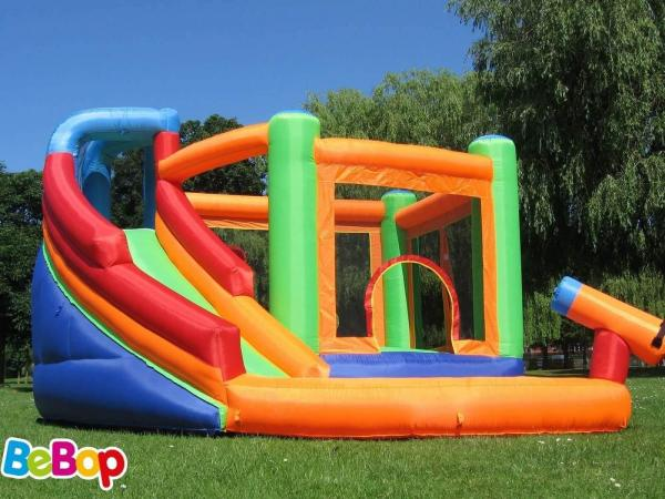 BeBop Canyon Kids Bouncy Castle and Water Slide-13521