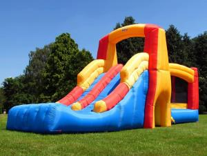 BeBop Kamikaze Inflatable Bouncy Castle and Double SlideBeBop Kamikaze Inflatable Bouncy Castle and Double Slide-0