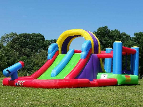BeBop Total Wipeout Kids Inflatable Bouncy Castle and Water Slide-13534