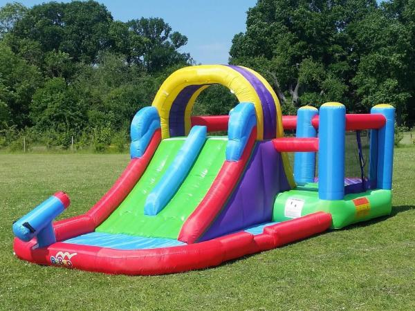 BeBop Total Wipeout Kids Inflatable Bouncy Castle and Water Slide-0