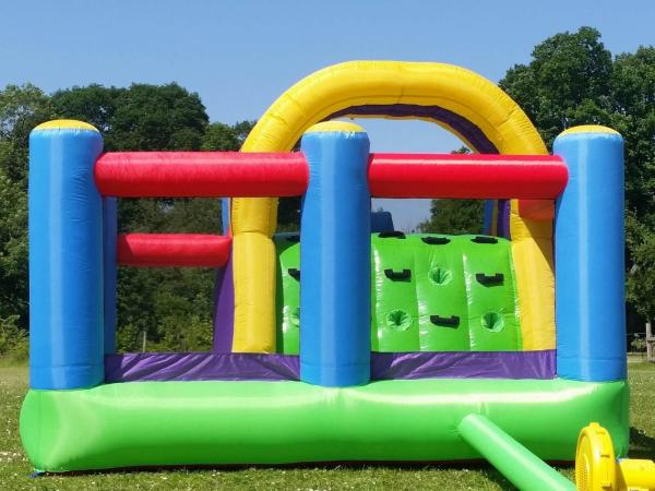 BeBop Total Wipeout Kids Inflatable Bouncy Castle and Water Slide-13535