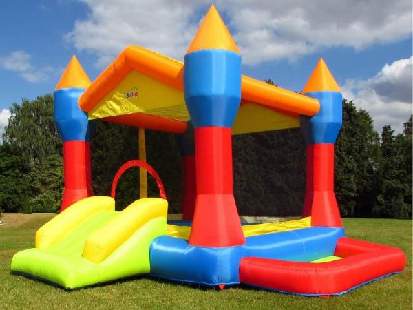 BeBop Party Inflatable Bouncy Castle and Ball Pit-13496