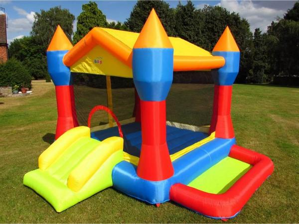 BeBop Party Inflatable Bouncy Castle and Ball Pit-0