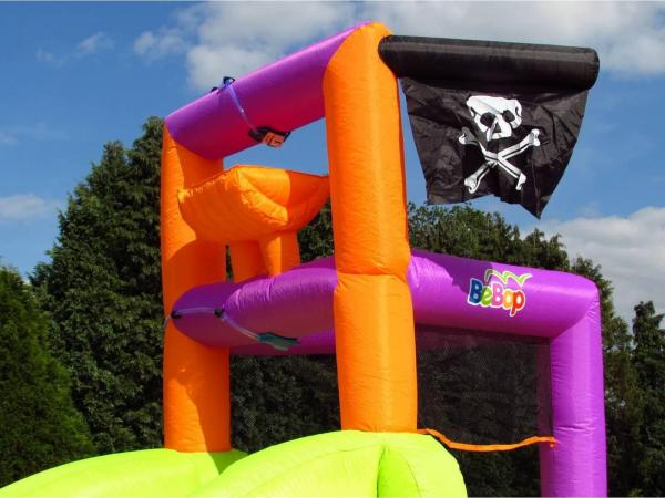 BeBop Pirate Boat Inflatable Water Slide-13506