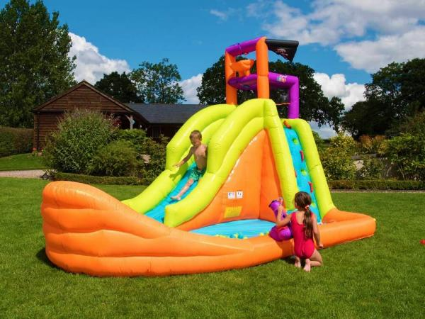BeBop Pirate Boat Inflatable Water Slide-0