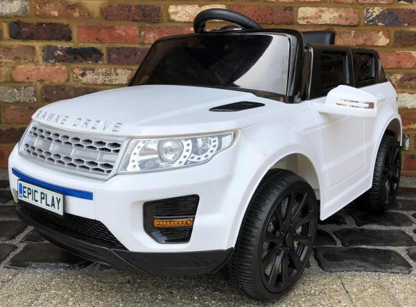 Kids My first Range Rover HSE Sport Style 12v Electric Ride on car - White-0