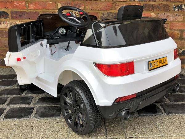 Kids My first Range Rover HSE Sport Style 12v Electric Ride on car - White-13884