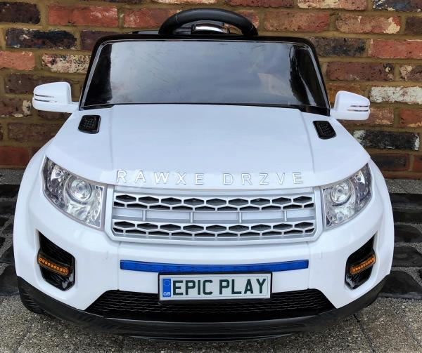 Kids My first Range Rover HSE Sport Style 12v Electric Ride on car - White-13881