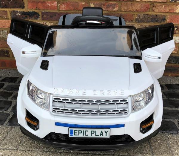 Kids My first Range Rover HSE Sport Style 12v Electric Ride on car - White-13879