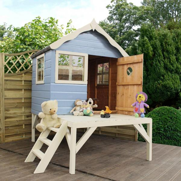 Mercia 4 x 4 Snug Wooden Playhouse / Wendy House with Tower-13395