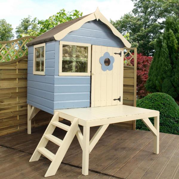 Mercia 4 x 4 Snug Wooden Playhouse / Wendy House with Tower-13394